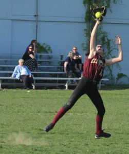 Paige Gouldthorpe played well in centerfield