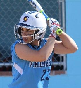 Zoe Cesati had three hits for Triton