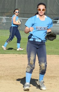 Freshman Bridget Sheehan started a crucial double play for Triton in the 7th inning