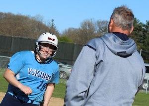 Julia Hartman in the home run trot