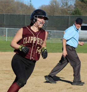 Emily Dobson had a homer and a double in the Newburyport 5th