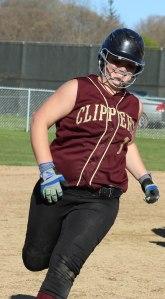Stephanie Gleason rounds the bases