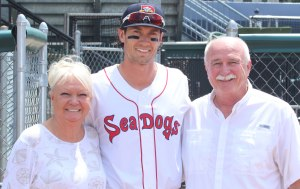 Ryan Court with his parents from Illinois