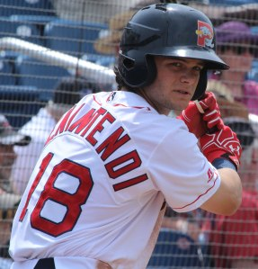 Andrew Benintendi prepping for an at-bat