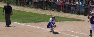 First baseman Erin Whalen handles the final putout