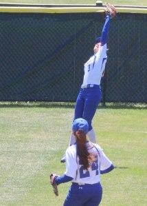 Aishah Malloy's crucial catch in the Bucksport 6th
