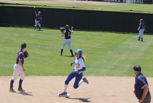 Aishah Malloy on her way to third
