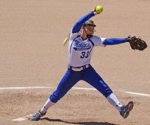 Madeline Wood pitching