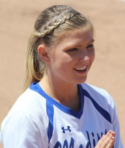 Madeline Wood before the game.