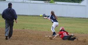 Caity Baker slides in with a hustle double as Maggie Doldt takes the throw