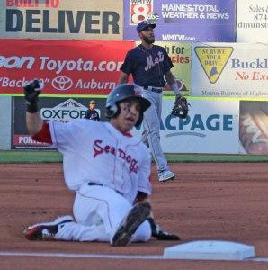 Mauricio Dubon (#11 Red Sox prospect) triples
