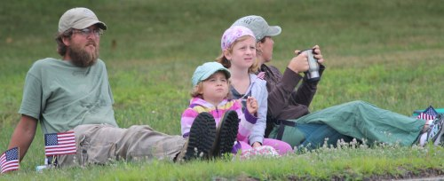 Family enjoys the 2016 Harrison Old Home Days parade