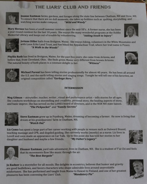 Roster of performers