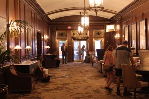 The elegant Omni Parker House lobby
