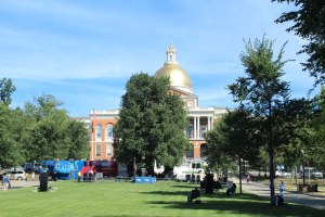 Boston Common before the rally.