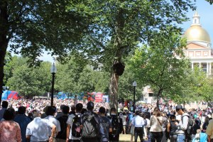 Boston Common during the rally