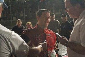 Travis Benjamin after the race