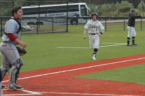 Connor Andrews (1) had two hits, scored two runs, and added an RBI for Bridgton Academy