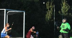 Air ball near the Greely goal
