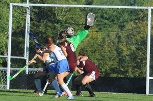 Kylie Rogers gets the blocker on a LR shot
