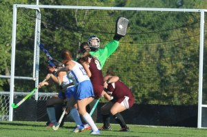 Kylie Rogers gets the blocker on a LR shot