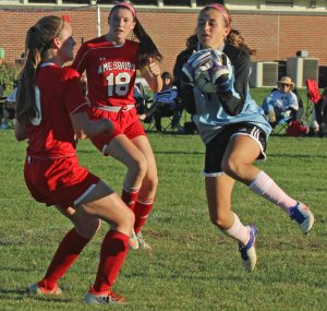 Dayna Rybicki saves for Triton
