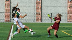 Pressure on Newburyport goalie Jen Stuart