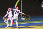 Nick Dellapiano and Michael Zuk celebrate a touchdown