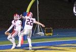 Nick Dellapiano and Michael Zuk celebrate a touchdown