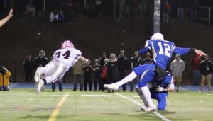 Newtown extra point blocked but NOT by diving Jack Roberge