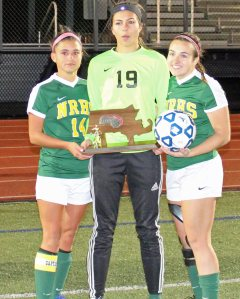 North Reading team captains - Marissa Zarella, Kat Hassapis, and Kristina Copelas