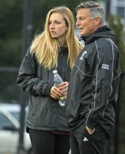 Weston coaches Rachel Wood and John Power
