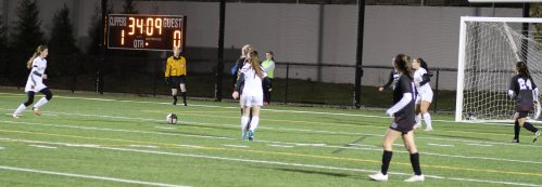 This was the setup Margaret Cote (left) had after a pass from Amelia Kroschwitz