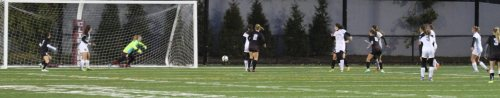 Newburyport GK Jen Stuart reacts to a shot