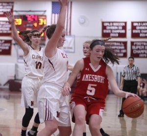 Katie Hadden stops Julia LaMontagne