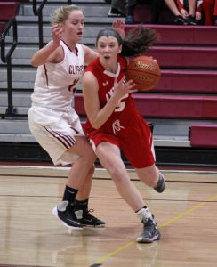 Julie LaMontagne goes for a baseline drive