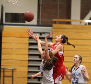Maddie Napoli gets to the basket