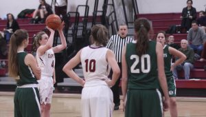 Anna Hickman shot ten free throws