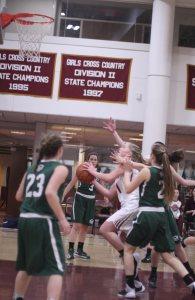 Katie Hadden to the basket