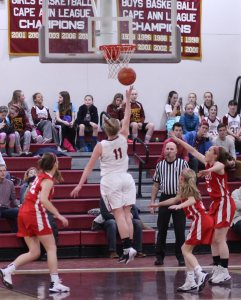 Katie Hadden floats in the lane