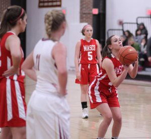 Mary Erb at the line - Masco made 12-of-16 free throws