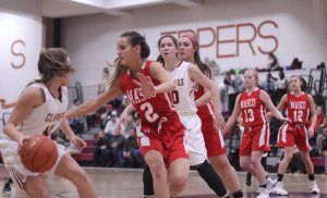 Plenty of Masco defense led here by Lily Andrews (2)