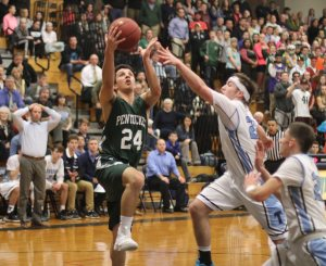 Nate McGrail finds a lane to the hoop