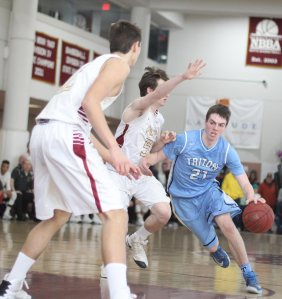 Jack McCarthy (22 points) scored eight inside baskets
