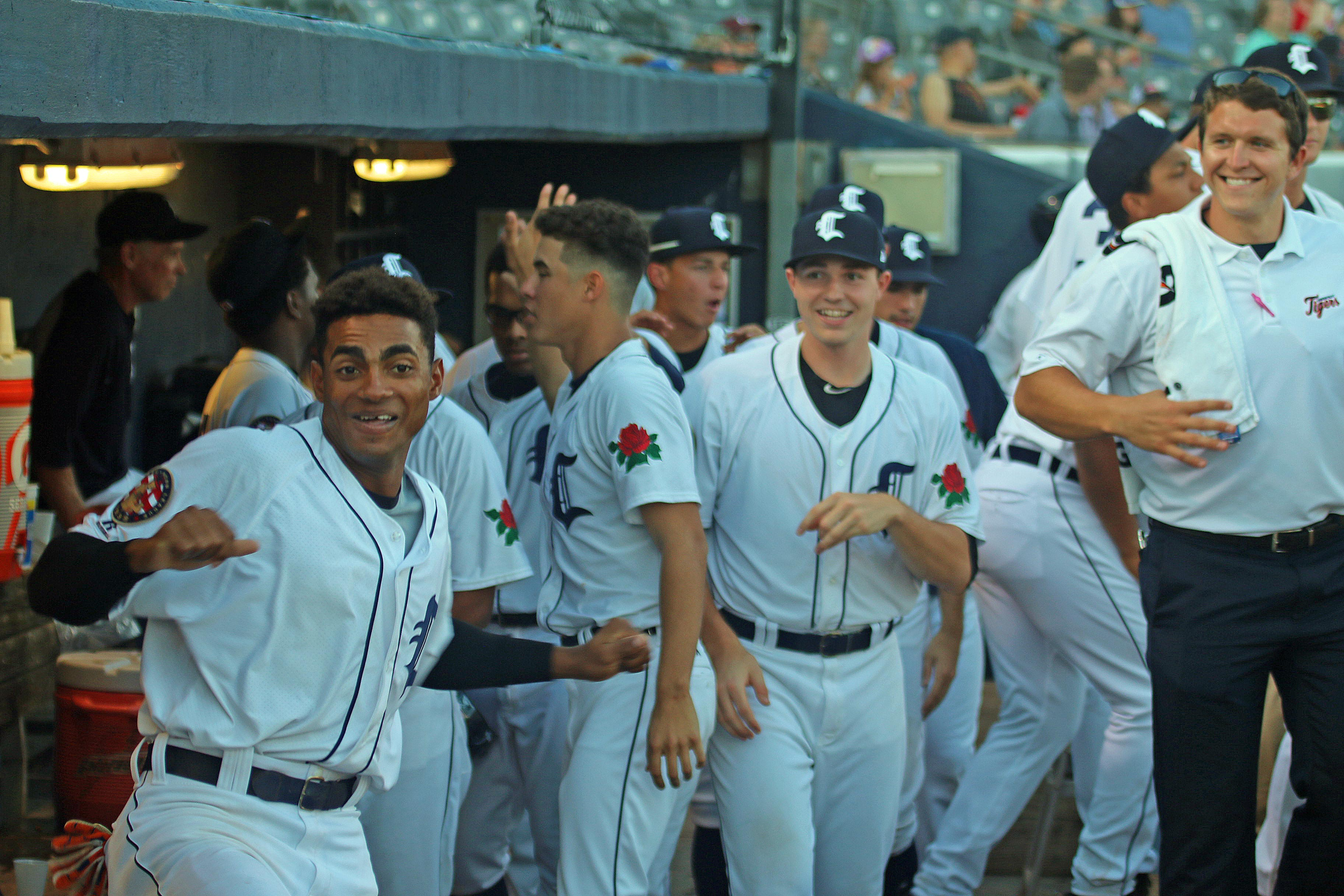 Happy Times In The Tigers Dugout